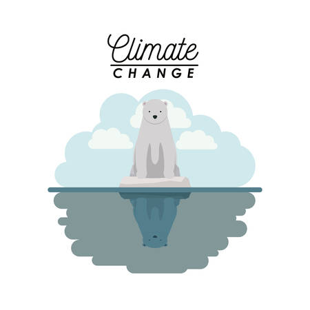 effects of climate change vector illustration design Illustration