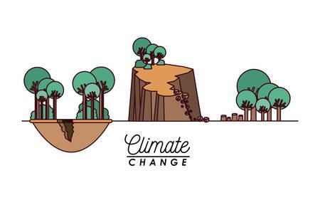 effects of climate change vector illustration design Ilustrace