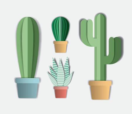 house plants set icons vector illustration design