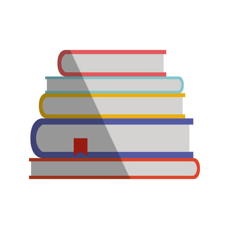 Pile of text books isolated icon vector illustration design Vettoriali