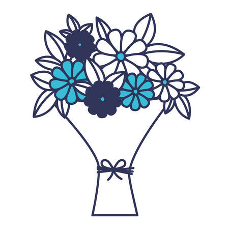 bouquet of flowers icon vector illustration design Illustration