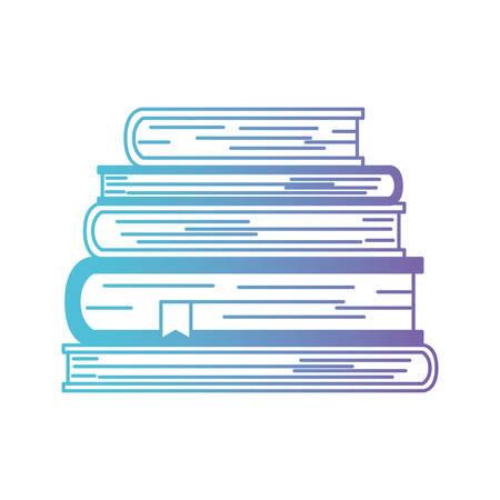pile text books isolated icon vector illustration design Vettoriali
