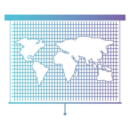 world map roller icon vector illustration design