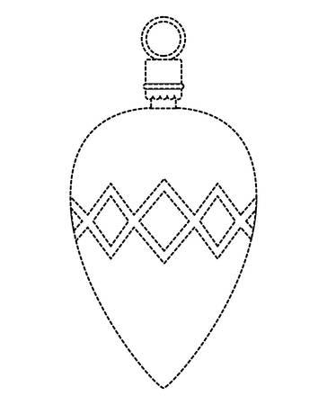 Boule de Noël suspendu design décoratif illustration vectorielle.