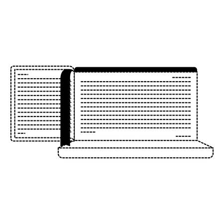 Electronic book in laptop computer vector illustration design.