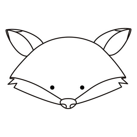 A cute fox character vector illustration design