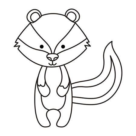A cute skunk woodland character vector illustration design Illustration