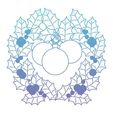 Christmas wreath with balls vector illustration design