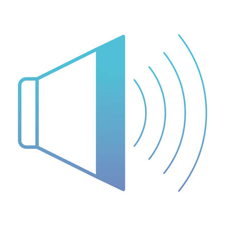 Speaker audio isolated icon vector illustration design Vettoriali