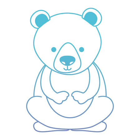 Cute bear teddy character vector illustration design  イラスト・ベクター素材