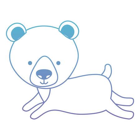 Cute bear teddy character vector illustration design Illustration