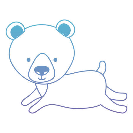Cute bear teddy character vector illustration design Illustration