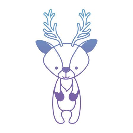 Beautiful reindeer woodland character vector illustration design