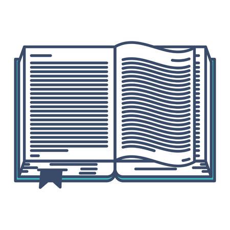 Text book open isolated icon vector illustration design Ilustração