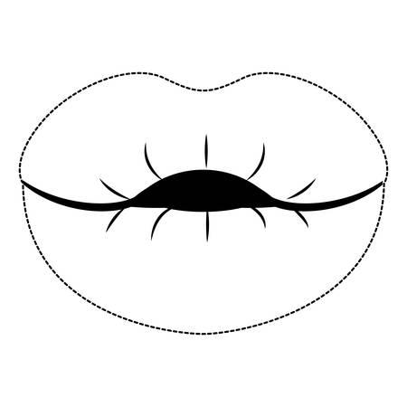 lips female isolated icon vector illustration design