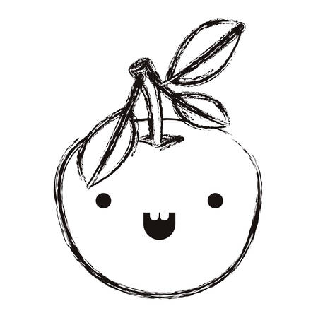 orange fresh and citrus fruit   character vector illustration design Illustration