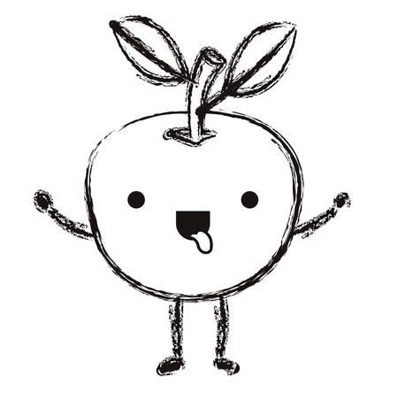 orange fresh and citrus fruit character vector illustration design