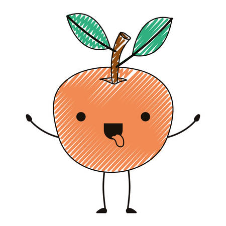 Fresh and fruit character vector illustration design. Illustration