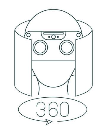 virtual reality technology set icons vector illustration design