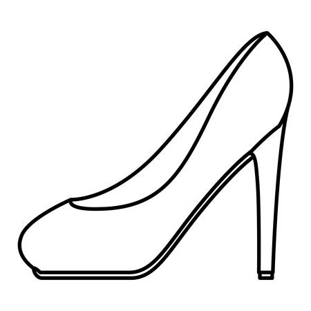 high heel shoe icon vector illustration design Illustration
