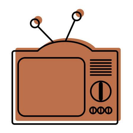 Retro television isolated icon vector illustration design. Ilustrace