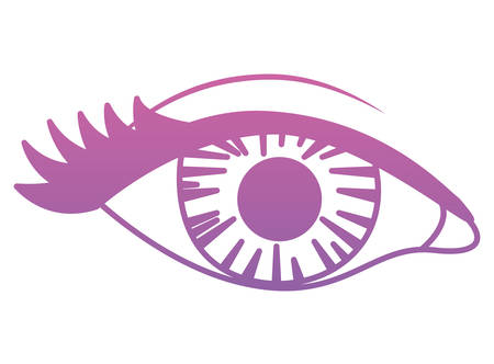 eye human pop art icon vector illustration design Illustration