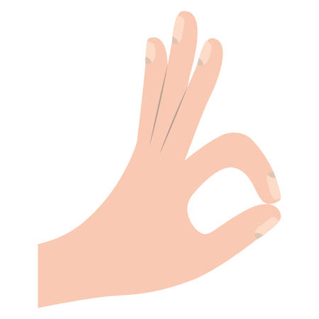 ok gesture with hand vector illustration design 向量圖像