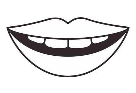 lips with teeth vector illustration design