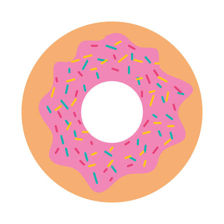delicious and sweet donut vector illustration design
