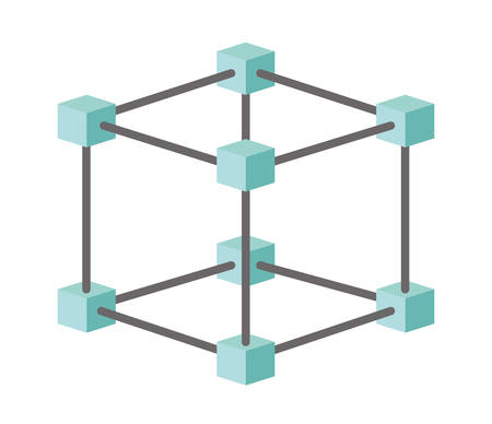 Cubic matrix geometric icon