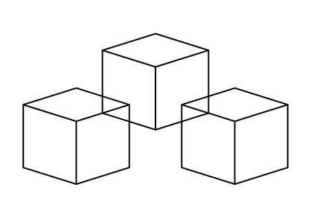 Cubes icon 일러스트