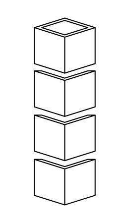 cubes stacked icon