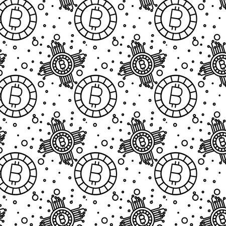 bitcoin money pattern background vector illustration design