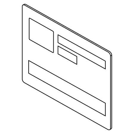 Credit card isolated icon vector illustration design Stock Illustratie
