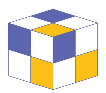 Icône géométrique de la matrice cubique design illustration vectorielle Banque d'images - 96879841
