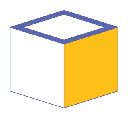 cubic matrix geometric icon vector illustration design