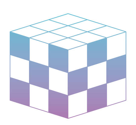 Cubic matrix geometric icon vector illustration design