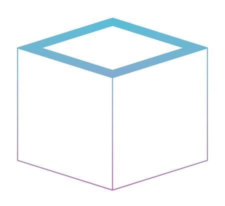 Icône géométrique de la matrice cubique design illustration vectorielle Banque d'images - 96829205
