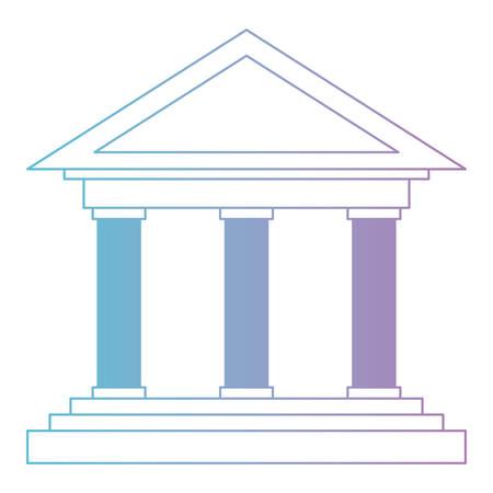 Bank building isolated icon vector illustration design Stock Illustratie