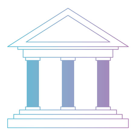 Bank building isolated icon vector illustration design Vettoriali