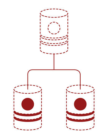 barrels network pyramid icon vector illustration design Vettoriali