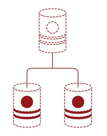 barrels network pyramid icon vector illustration design Stock Illustratie