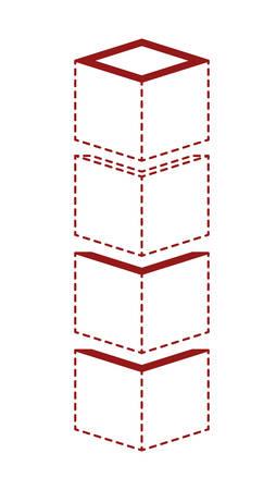 cubic set matrix geometric icons vector illustration design 일러스트