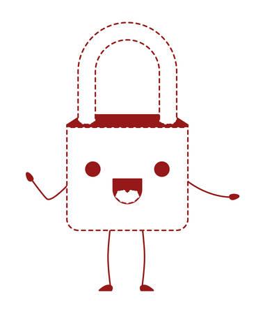 Safe secure padlock kawaii character vector illustration design Stock Illustratie