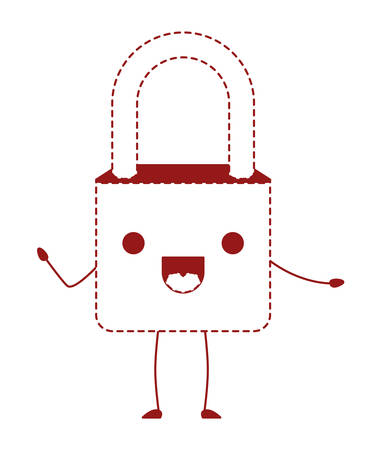 Safe secure padlock kawaii character vector illustration design Vettoriali