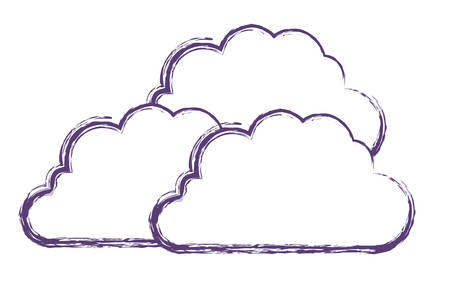 cloud silhouette isolated icon vector illustration design Stock Illustratie