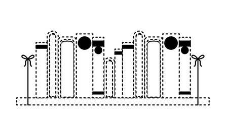 pile books library in wooden ledge vector illustration design