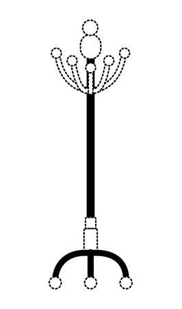 wooden coat rack icon vector illustration design Vettoriali