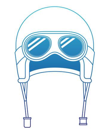 classic motorcyclist helmet with googles vector illustration design Illustration
