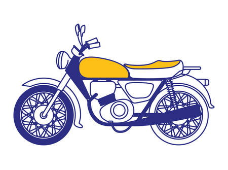 retro motorcycle classic icon vector illustration design